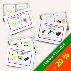 Anglické slovíčka – Zvieratá + Farby + Ovocie a zelenina | Balík so zľavou 20%