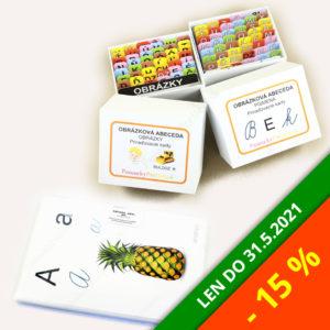 Obrázková abeceda + Abeceda (veľké karty) | Balík so zľavou 15%