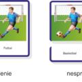 Šport - trojzložkové karty - ukážka autokorekcie
