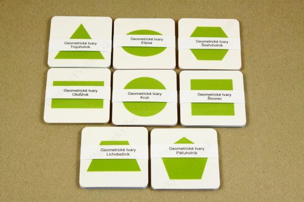 Geometrické tvary - všetky karty
