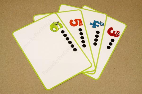 Počítanie do 10 - ukážka vybraných základných kariet