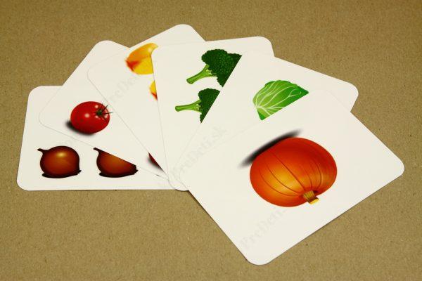 Počítanie do 10 - ukážka vybraných obrázkových kariet (Zelenina)