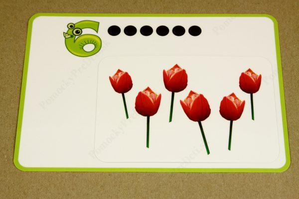 Počítanie do 10 - základná karta a malá obrázková karta