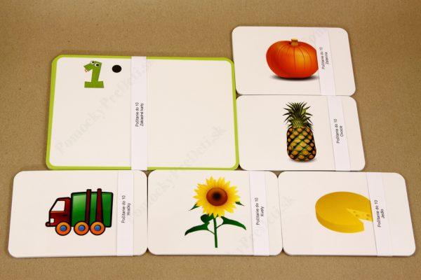 Počítanie do 10 - základné a obrázkové karty