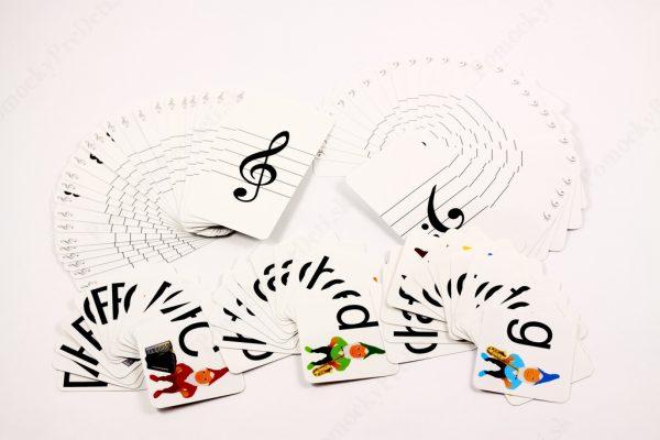Noty - trpaslíci MAXI - náhľad na všetkých 99 kariet