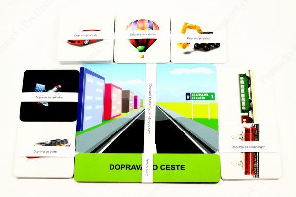 Dopravné prostriedky MAXI - základné karty a malé obrázkové karty