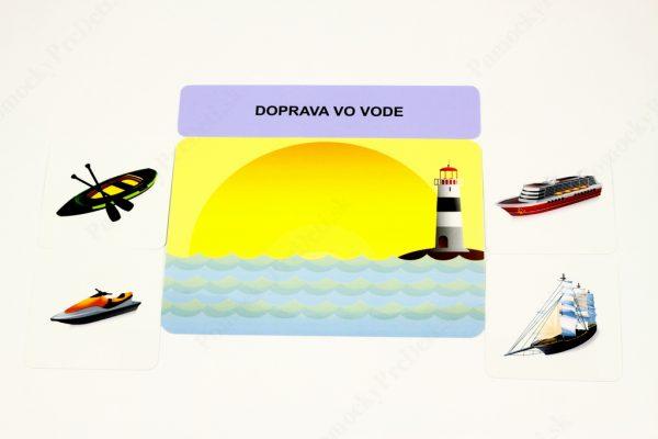 Dopravné prostriedky MAXI - Základná karta s vybranými obrázkovými kartami (Doprava vo vode)