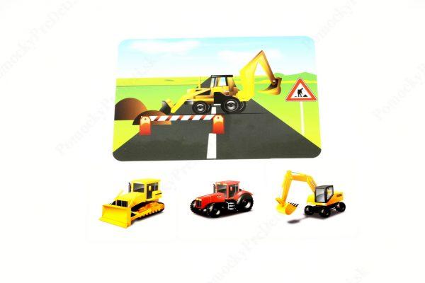 Dopravné prostriedky MAXI - základná karta s vybranými obrázkovými kartami (Doprava pri práci)