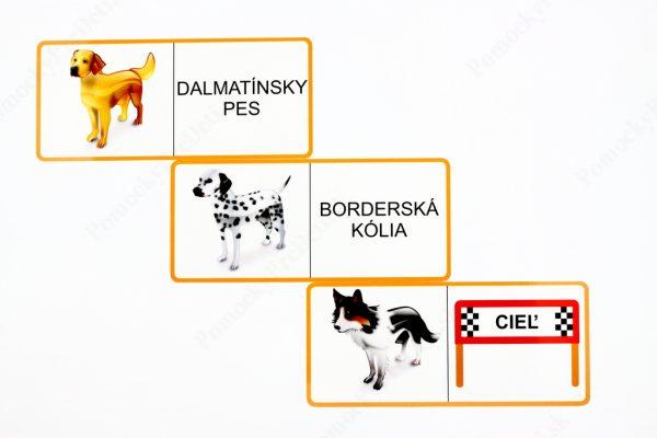 Domino - Psy - ukážka vybraných kariet