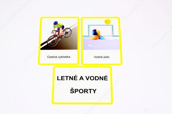 Šport MAXI - textová karta a vybrané kontrolné karty (Letné a vodné športy)