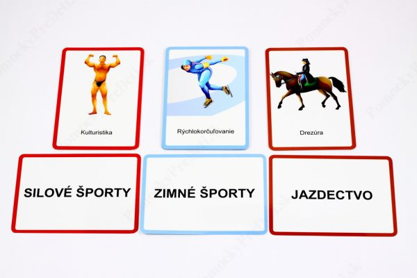 Šport MAXI - ukážka vybraných kontrolných a textových kariet