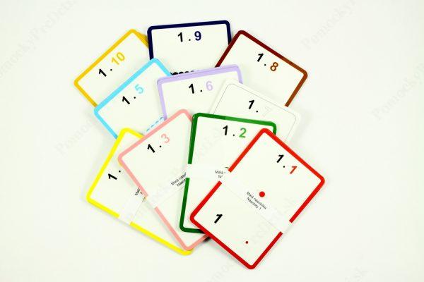 Malá násobilka - kontrolné karty