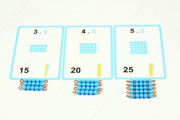 Malá násobilka - karty v kombinácii s montessori perlovým materiálom