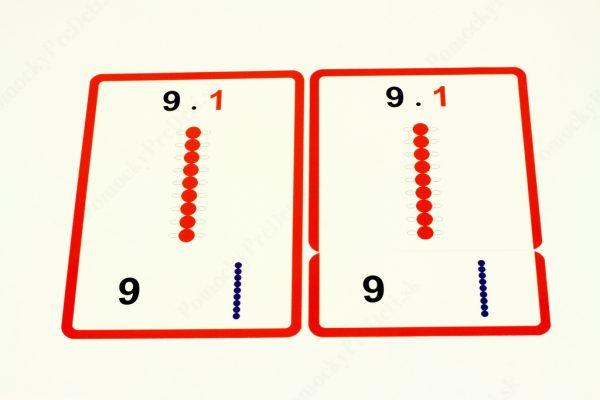 Malá násobilka - kontrolná karta, karta s príkladom a karta s výsledkom