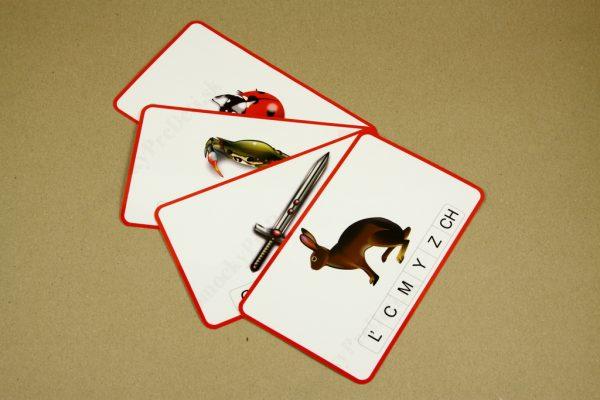 Koncová hláska - ukážka vybraných kariet