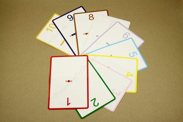 Rozklad čísel do 10 - náhľad na všetky karty