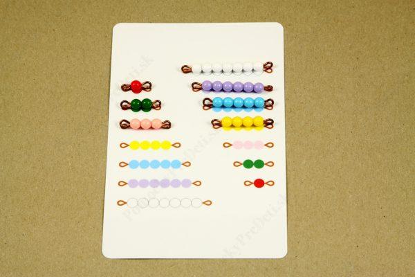Rozklad čísel do 10 - rozklad čísla 7 priamo na karte