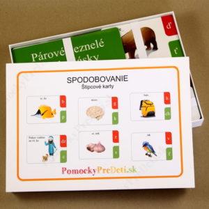Spodobovanie - Štipcové a priraďovacie karty - pohľad do otvorenej krabičky