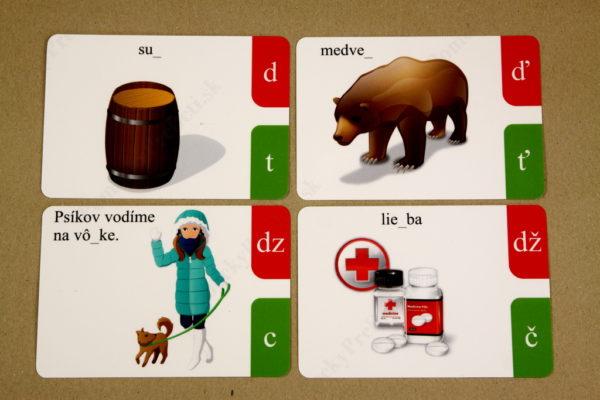 Spodobovanie - Štipcové a priraďovacie karty - ukážka kartičiek (predná strana)