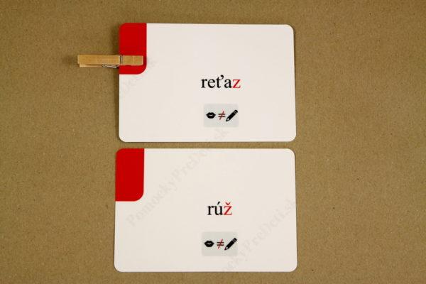 Spodobovanie - Štipcové a priraďovacie karty - ukážka kartičiek (zadná strana - kontrola pomocou štipca)