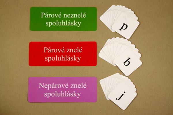 Spodobovanie - Štipcové a priraďovacie karty - triediace karty a kartičky so spoluhláskami