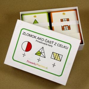 Zlomok ako časť z celku – priraďovacie karty – pohľad do vnútra balenia