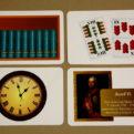 Rímske čísla - karty s príkladmi použitia rímskych čísel - líce
