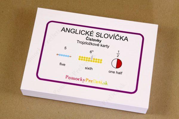 Anglické slovíčka – číslovky – krabička