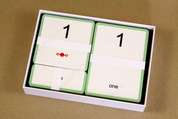 Anglické slovíčka – číslovky – pohľad do vnútra krabičky
