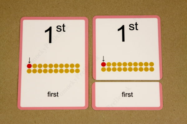Anglické slovíčka – číslovky - trojica kariet (kontrolná karta, zadanie, riešenie)