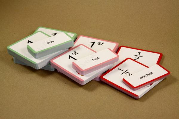 Anglické slovíčka – číslovky - 276 kartičiek (základné číslovky, radové číslovky, zlomky)