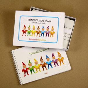 Tónová sústava - balenie 1x karty (180 kariet v krabičke) + 1x učebnica (94 strán)