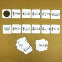 Posuvky - trpaslíci | Priraďovacie karty | rozlišovanie celého tónu a poltónu