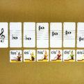 Posuvky - trpaslíci | Priraďovacie karty | priraďovanie názvov nôt
