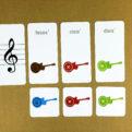 Posuvky - trpaslíci | Priraďovacie karty | priraďovanie názvov nôt (rub) - kontrola, nesprávne riešenie