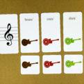 Posuvky - trpaslíci | Priraďovacie karty | priraďovanie názvov nôt (rub) - kontrola, správne riešenie